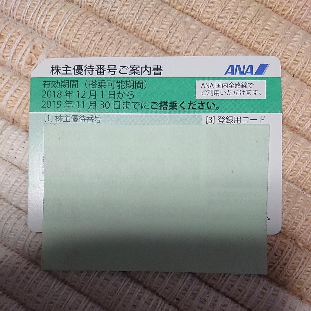 ANA全日空株主優待券