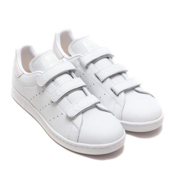 【新品 即日発送】 adidas originals STAN SMITH アディダス スタンスミス ベルクロ 天然皮革モデル ホワイト 26.5cm