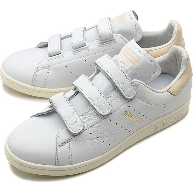 【新品 即日発送】 adidas originals STAN SMITH アディダス スタンスミス ベルクロ 金ロゴ ホワイト リネン 26.0cm