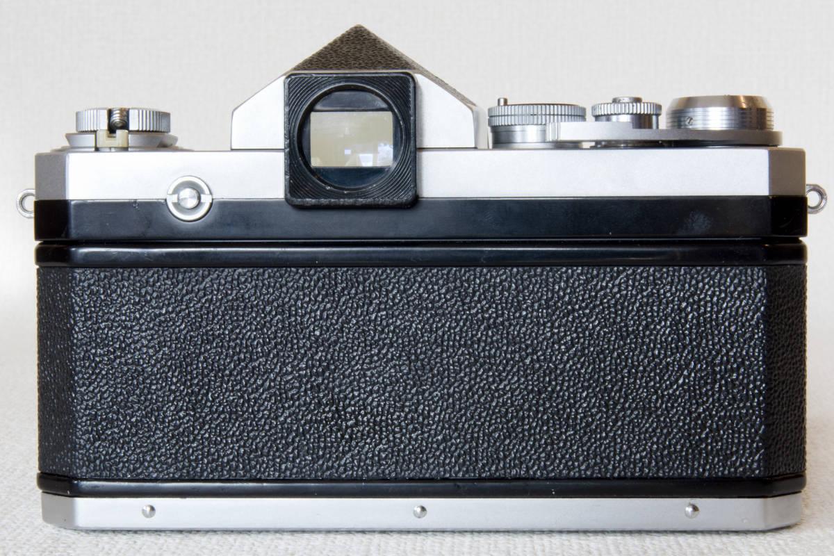 ニコンF アイレベル シルバー 725万番台 Nikkor-H Auto 50mm F1:2.0 接写リング、ケース等セット 正常動作品_画像5