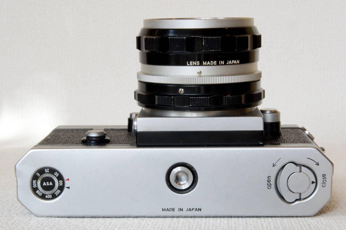 ニコンF アイレベル シルバー 725万番台 Nikkor-H Auto 50mm F1:2.0 接写リング、ケース等セット 正常動作品_画像8