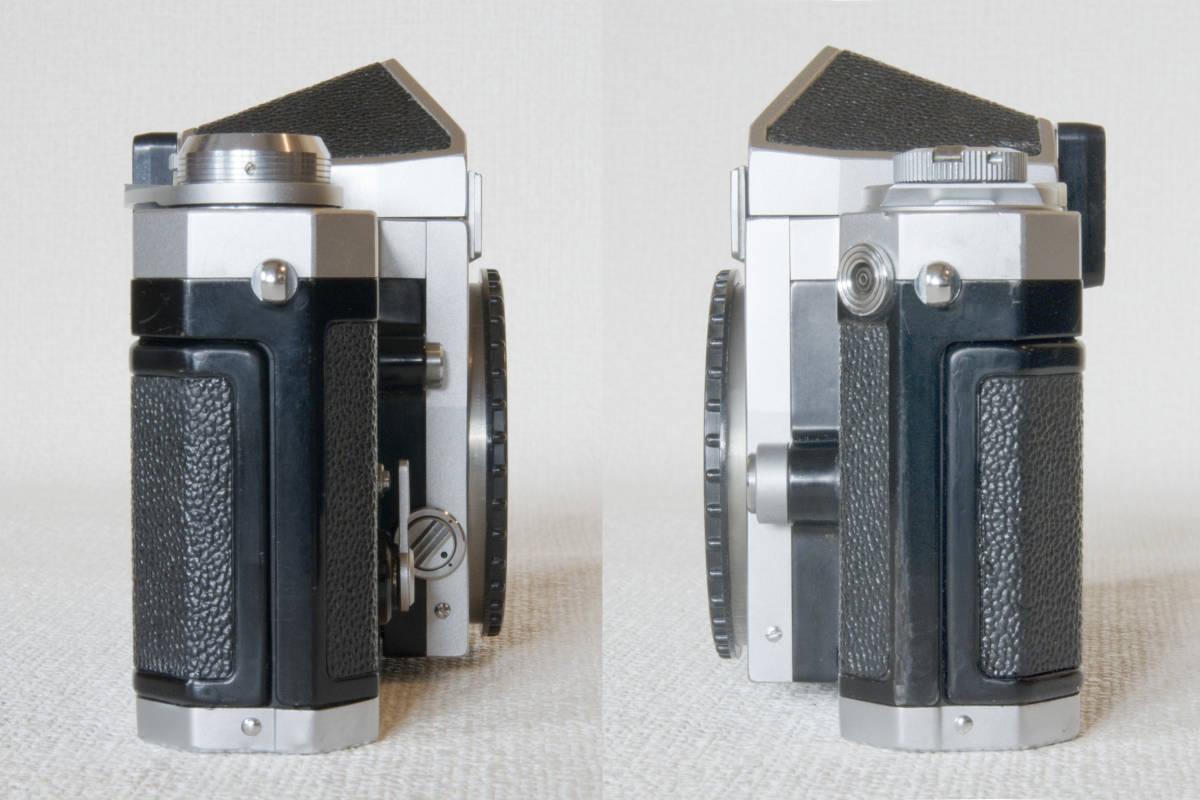 ニコンF アイレベル シルバー 725万番台 Nikkor-H Auto 50mm F1:2.0 接写リング、ケース等セット 正常動作品_画像7