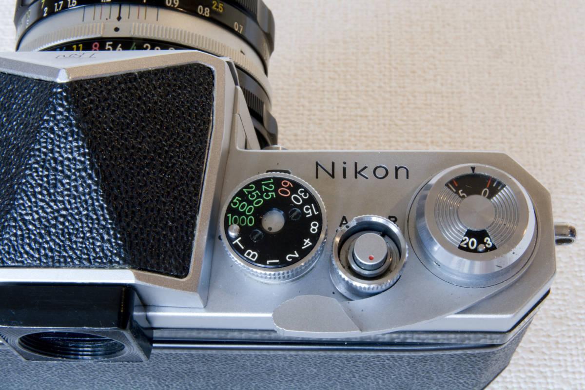 ニコンF アイレベル シルバー 725万番台 Nikkor-H Auto 50mm F1:2.0 接写リング、ケース等セット 正常動作品_画像10