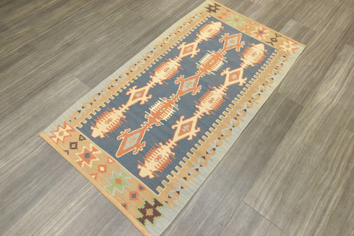 ヴィンテージ コルクウール トルコ カイセリキリム 手織りオールドキリム アンティーク テキスタイルインテリア 73x136cm/GH188_画像10
