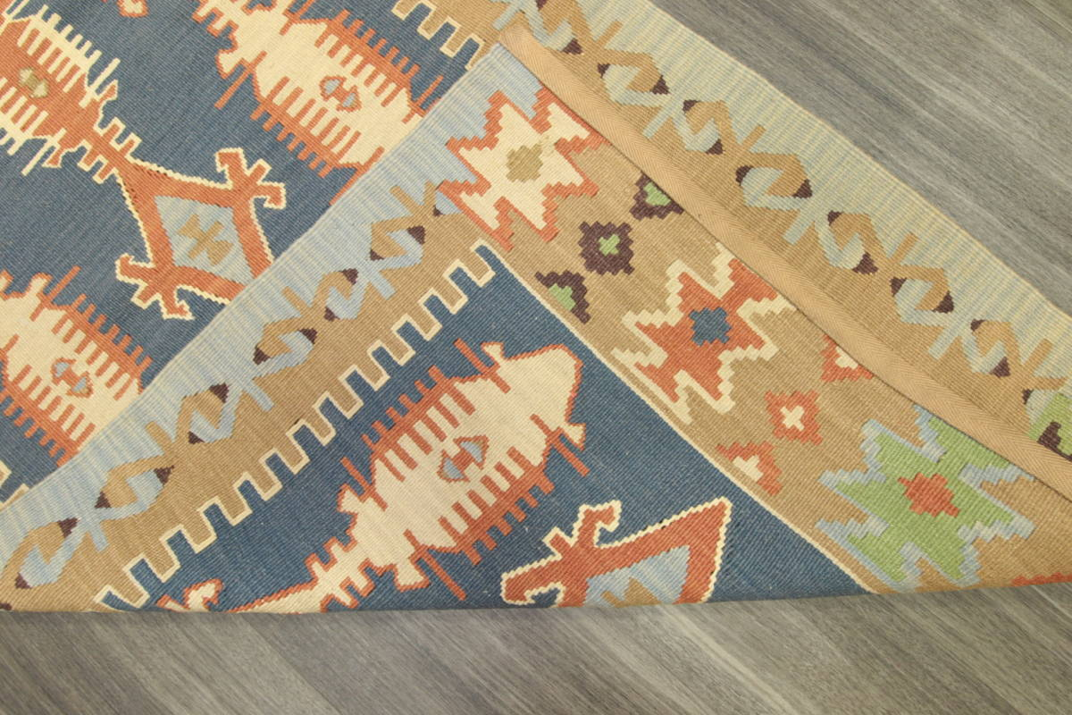 ヴィンテージ コルクウール トルコ カイセリキリム 手織りオールドキリム アンティーク テキスタイルインテリア 73x136cm/GH188_画像5