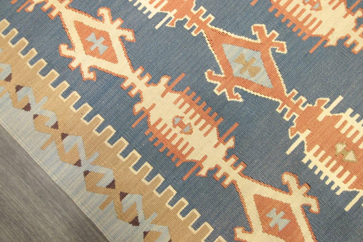 ヴィンテージ コルクウール トルコ カイセリキリム 手織りオールドキリム アンティーク テキスタイルインテリア 73x136cm/GH188_画像7