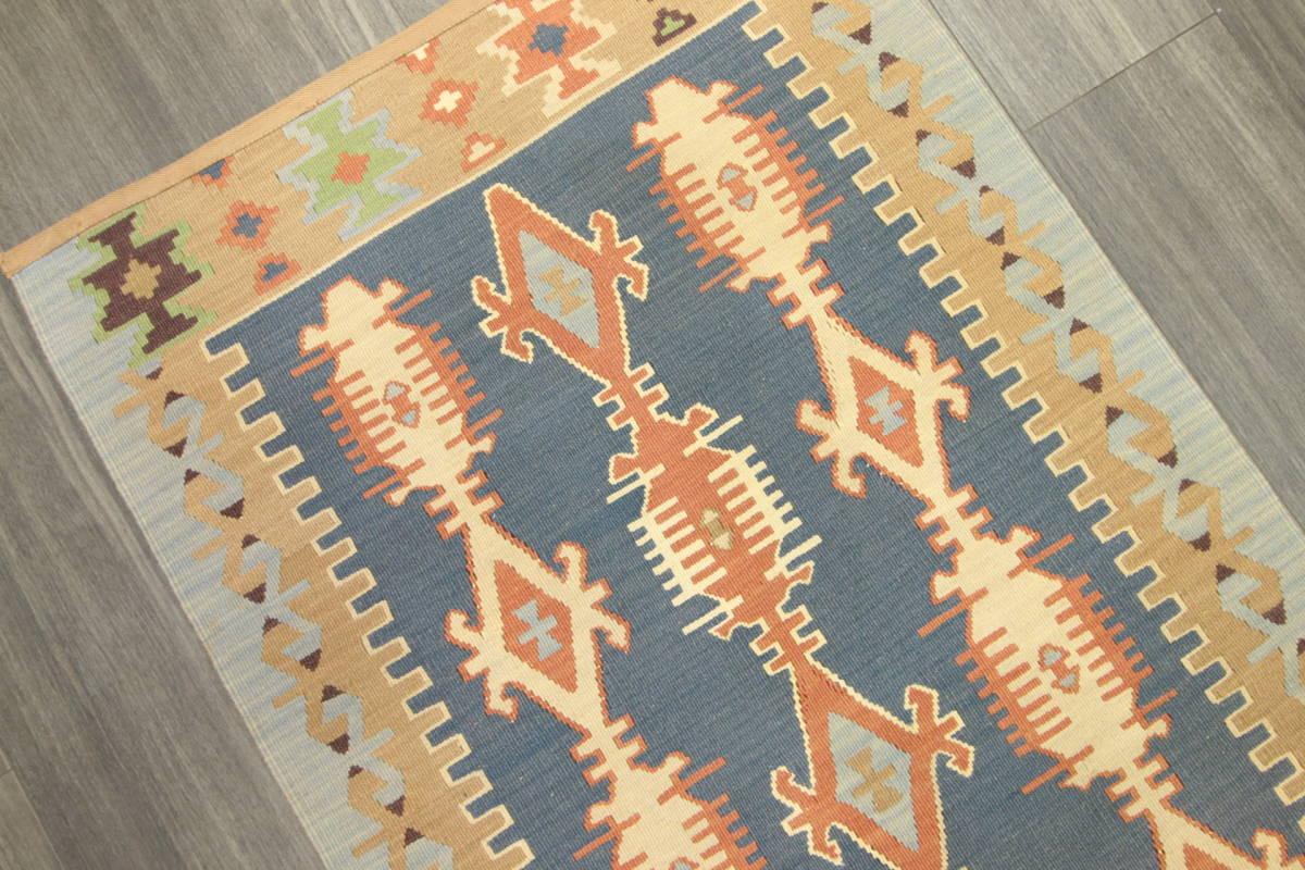 ヴィンテージ コルクウール トルコ カイセリキリム 手織りオールドキリム アンティーク テキスタイルインテリア 73x136cm/GH188_画像3