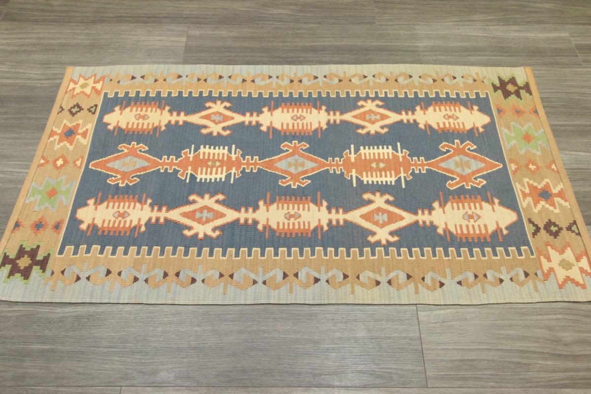 ヴィンテージ コルクウール トルコ カイセリキリム 手織りオールドキリム アンティーク テキスタイルインテリア 73x136cm/GH188_画像9