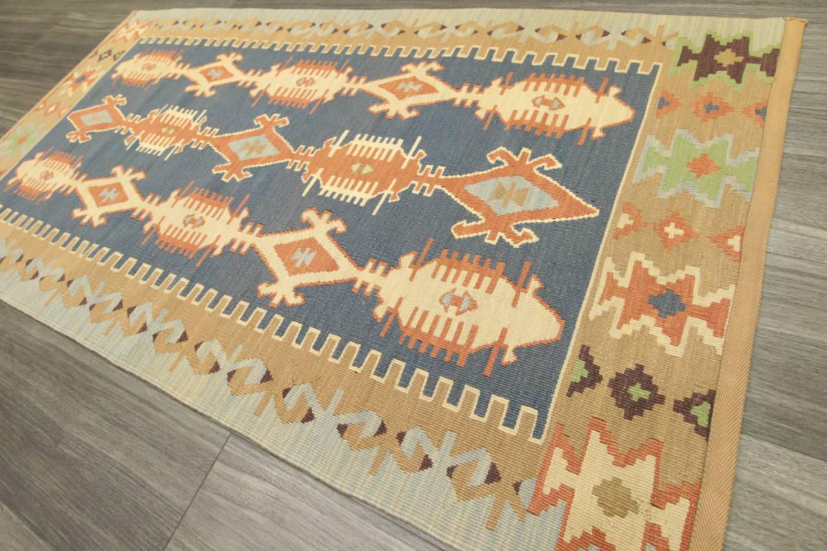 ヴィンテージ コルクウール トルコ カイセリキリム 手織りオールドキリム アンティーク テキスタイルインテリア 73x136cm/GH188_画像8