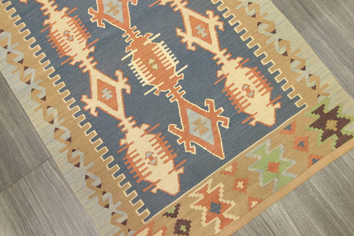 ヴィンテージ コルクウール トルコ カイセリキリム 手織りオールドキリム アンティーク テキスタイルインテリア 73x136cm/GH188_画像4