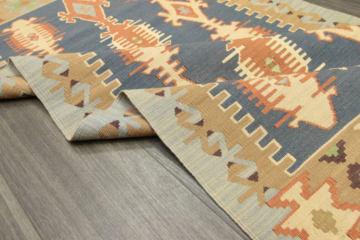 ヴィンテージ コルクウール トルコ カイセリキリム 手織りオールドキリム アンティーク テキスタイルインテリア 73x136cm/GH188_画像6