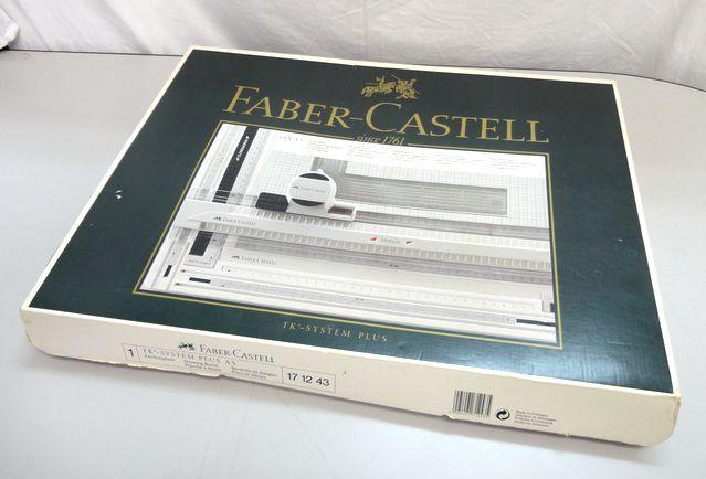 【ゆ325】Faber-Castell ファーバーカステル 171243 A3 TKシステム製図板 ドラフティングヘッド付 設計 作成 平行 三角_画像1