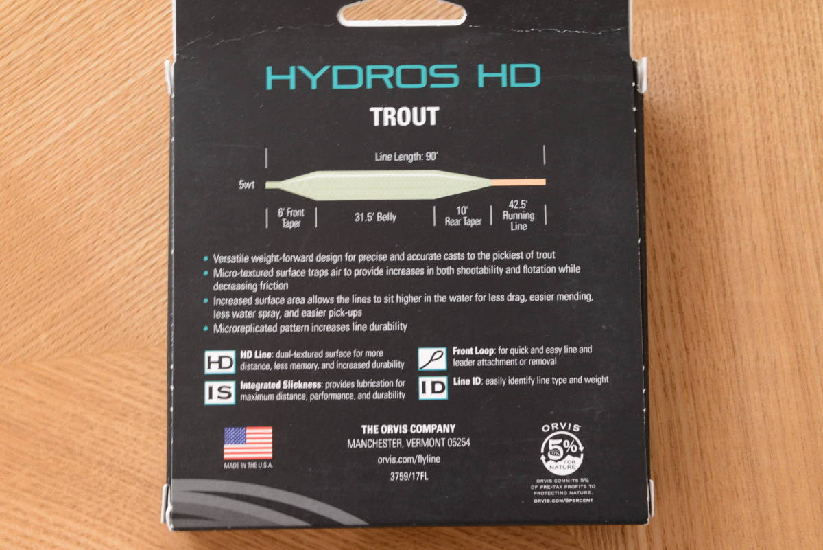 ORVIS HYDROS HD WF4F オービスフローティングライン4番/新品 _画像3