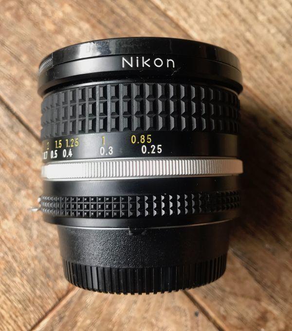 良品 ニコン (NIKON) ニッコール(NIKKOR) 1:2.8/20mm MF レンズ 日本製 ブラック マニュアルフォーカス_画像6