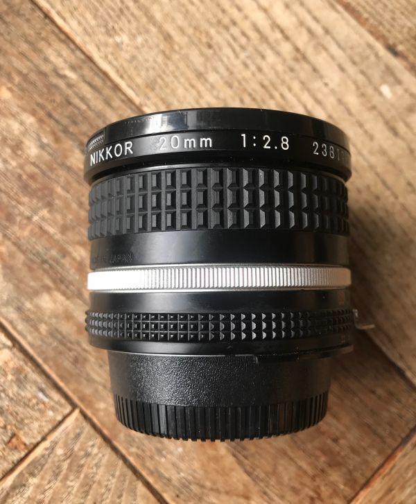 良品 ニコン (NIKON) ニッコール(NIKKOR) 1:2.8/20mm MF レンズ 日本製 ブラック マニュアルフォーカス_画像7