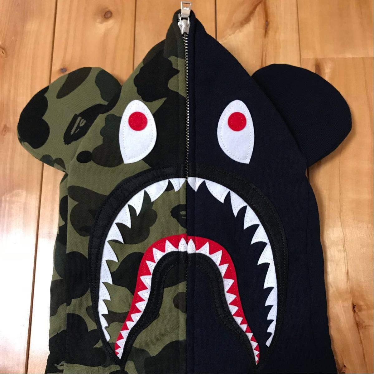 ★新品★ ベアブリック シャーク パーカー L shark full zip hoodie a bathing ape bape エイプ ベイプ medicom toy メディコムトイ WGM_画像2