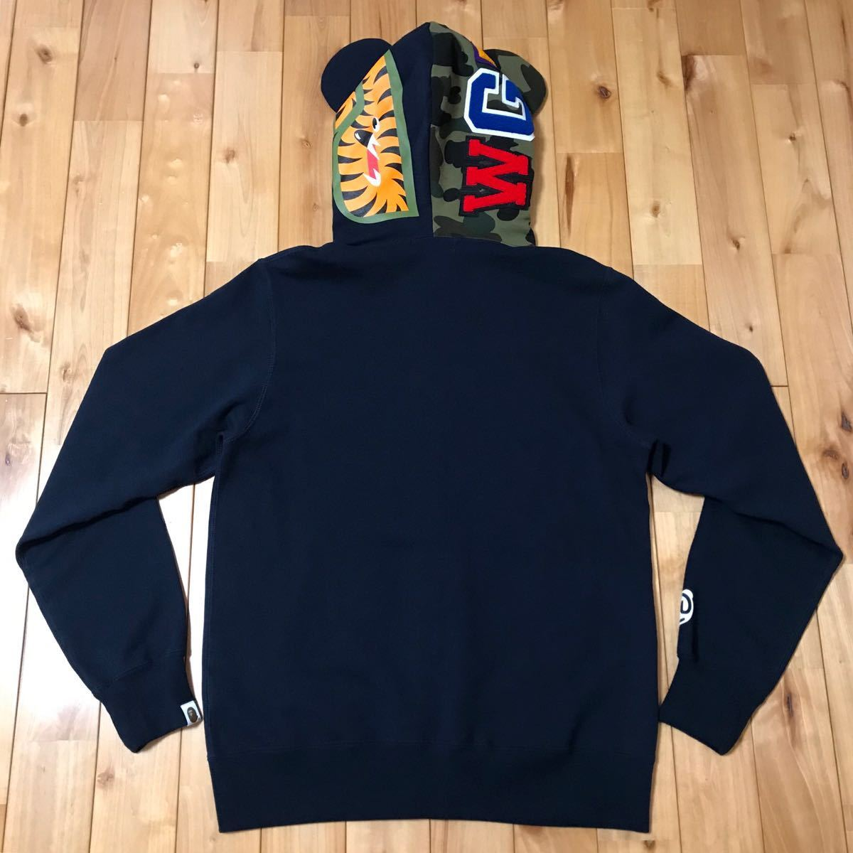 ★新品★ ベアブリック シャーク パーカー L shark full zip hoodie a bathing ape bape エイプ ベイプ medicom toy メディコムトイ WGM_画像5