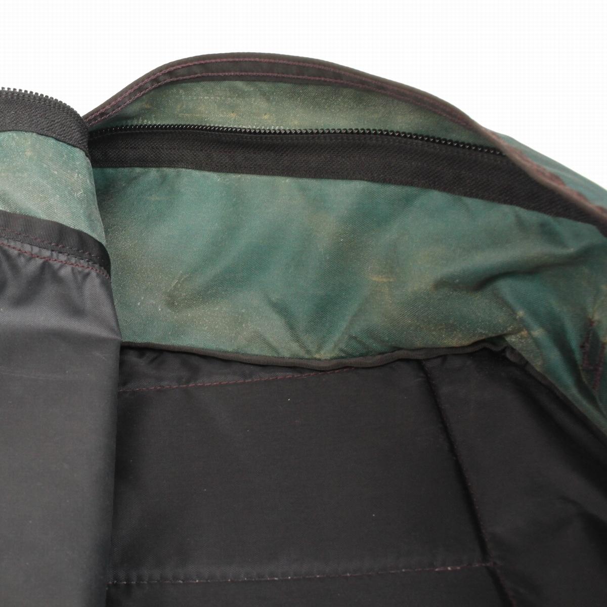 (yk80308)極上91年頃製 紫タグGREGORYグレゴリーMADE IN USAデイ バックパック 旧ロゴ アメリカ製 深緑 ダークグリーン パープルタグ_画像10