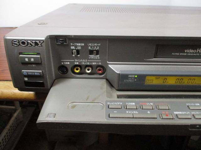 ソニー Hi-8ビデオデッキ EV-S1100 ジャンク_画像3
