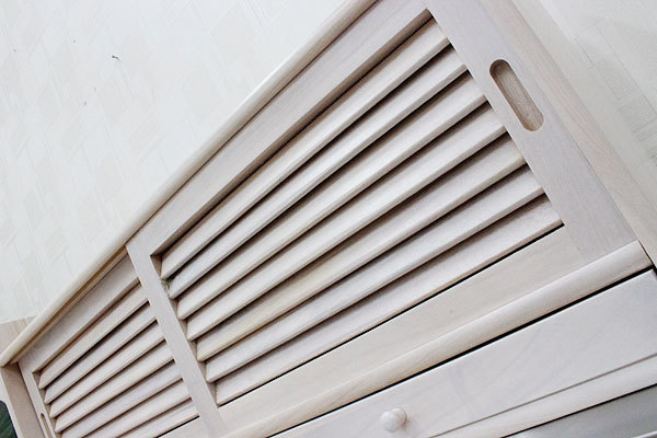 【送料無料】【完成品】ルーバー扉両面引き戸ストッカー 80幅 ホワイトウォッシュ アウトレット 調味料ラック 食器収納庫 引き戸ストッカー_画像8