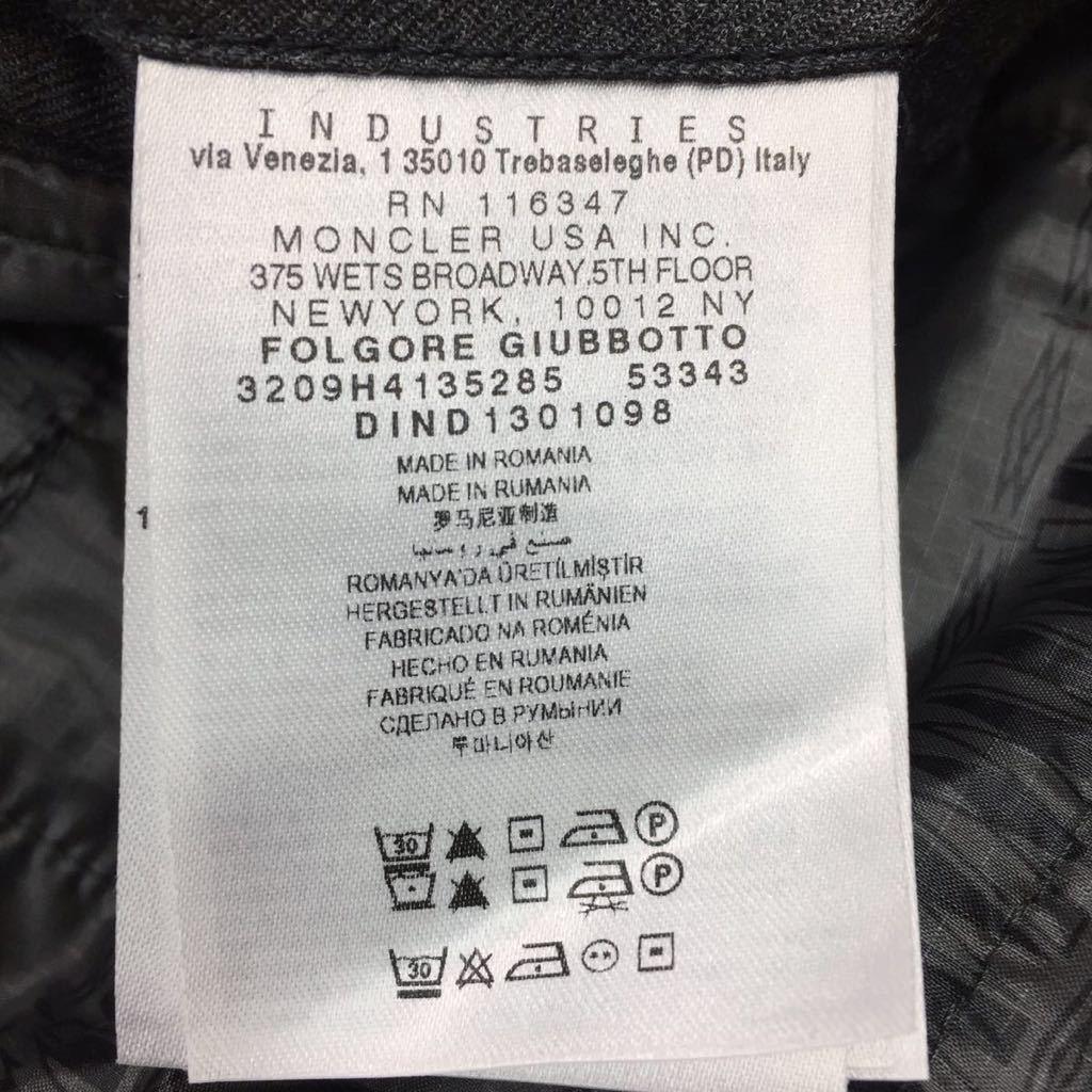 新品同様!MONCLER W(×ホワイトマウンテニアリング)FOLGORE ダウンジャケット(0)¥199500 13AW_画像9