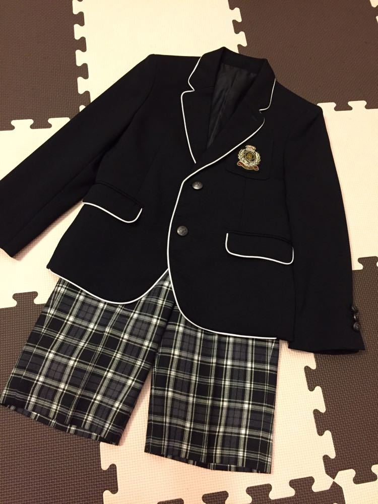 782f57e9879d7 代購代標第一品牌- 樂淘letao -  美品 ミチコロンドンスーツ120 卒園式入学式ブレザージャケットパンツフォーマル2点セット