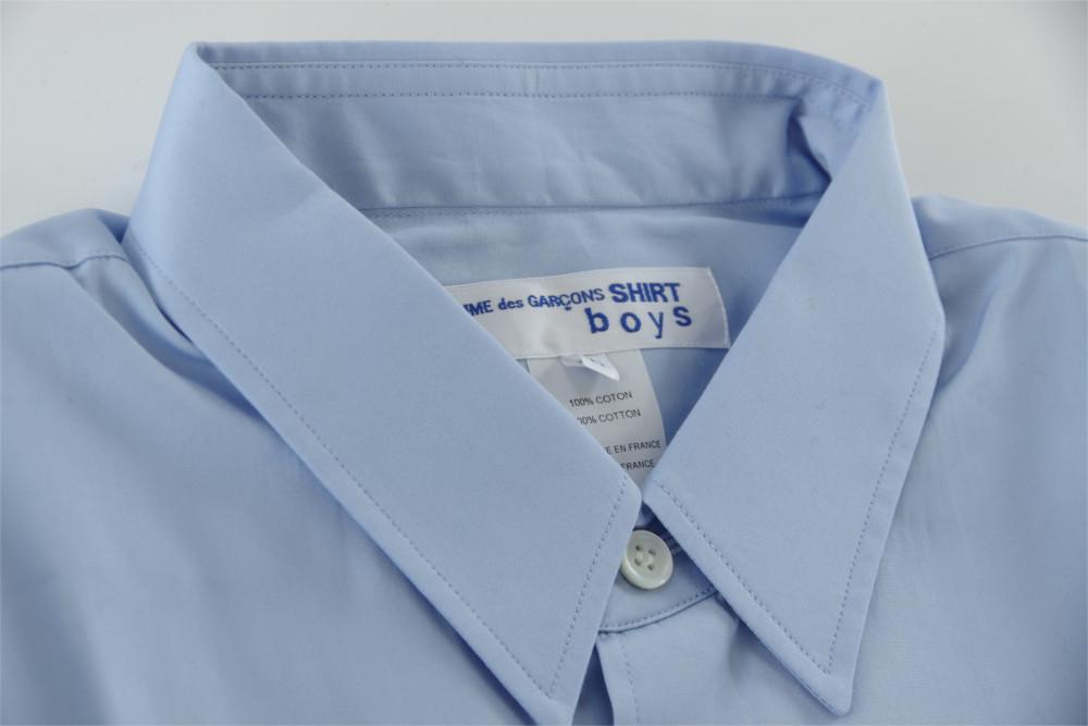 新品 18-19AW COMME des GARCONS SHIRT BOYS 【 コムデギャルソン シャツ ボーイズ 】バックロゴプリントシャツ ライトブルー S_画像9
