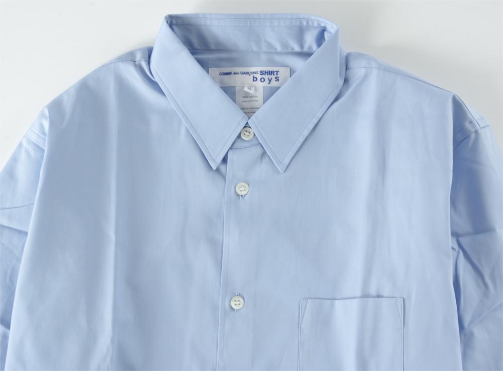 新品 18-19AW COMME des GARCONS SHIRT BOYS 【 コムデギャルソン シャツ ボーイズ 】バックロゴプリントシャツ ライトブルー S_画像3