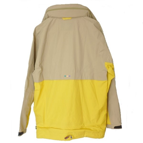 新品●送料無料●定価86400円 adidasOriginalsベージュ×黄色ファレルウィリアムスコラボナイロンジャケット(2XO)_画像2