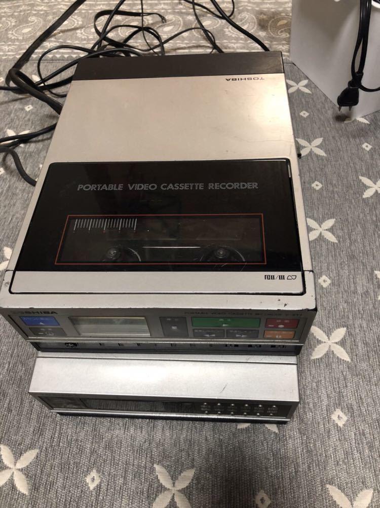 東芝 V-XT7 ポータブルビデオカセットレコーダー TT-XT7 ビデオチューナー セット TOSHIBA 【ジャンク】_画像4
