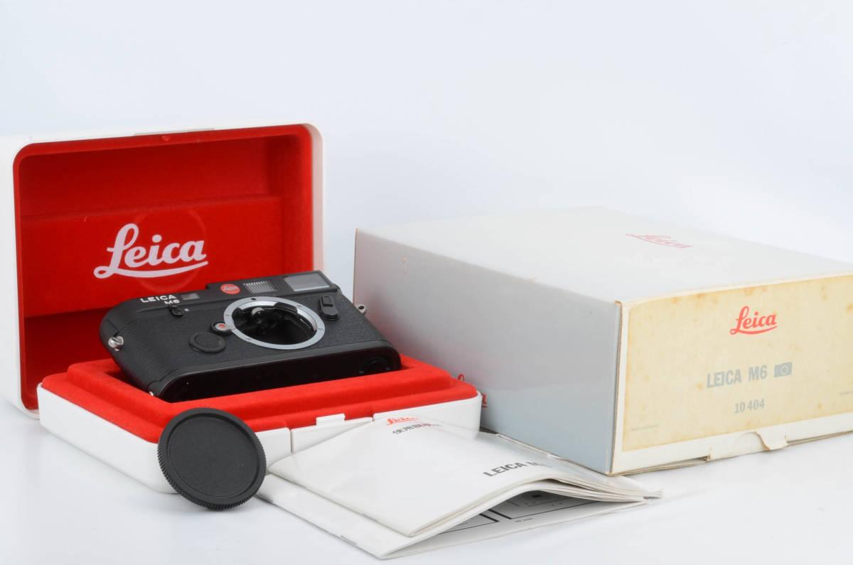 新品同様★ライカ M6 ブラックボディ 元箱 ケース付き 大人気のフィルムカメラ レンジファインダー (333-R49)_画像1