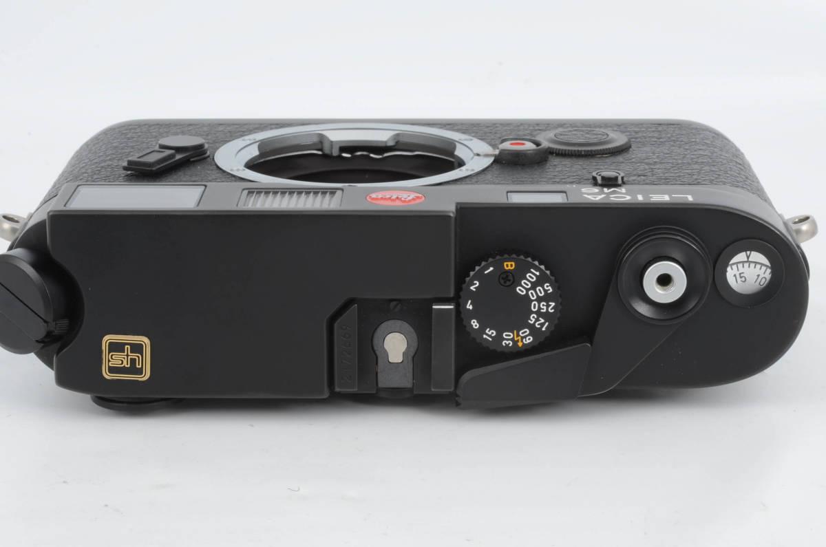 新品同様★ライカ M6 ブラックボディ 元箱 ケース付き 大人気のフィルムカメラ レンジファインダー (333-R49)_画像3