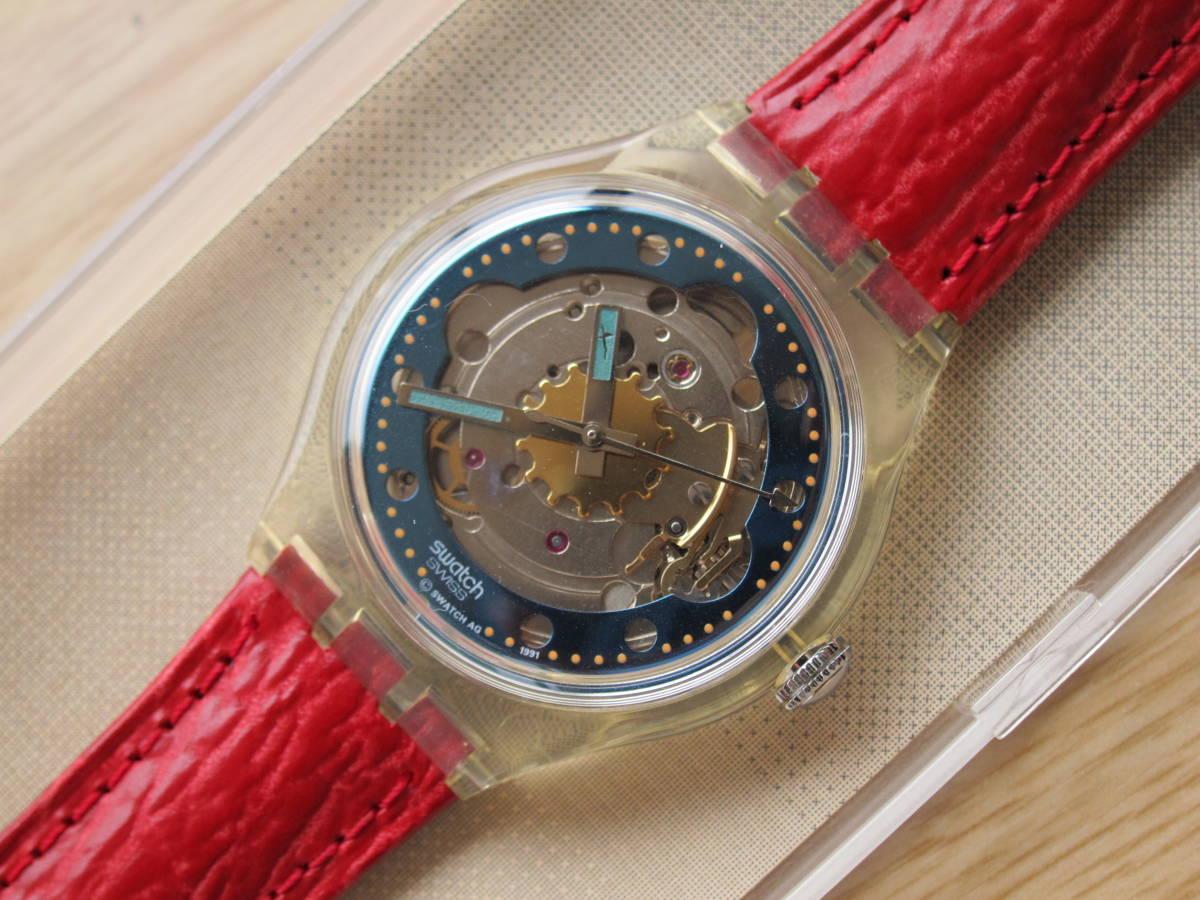 ☆Swatch スウォッチ オートマチック 92年 RED AHEAD 未使用☆