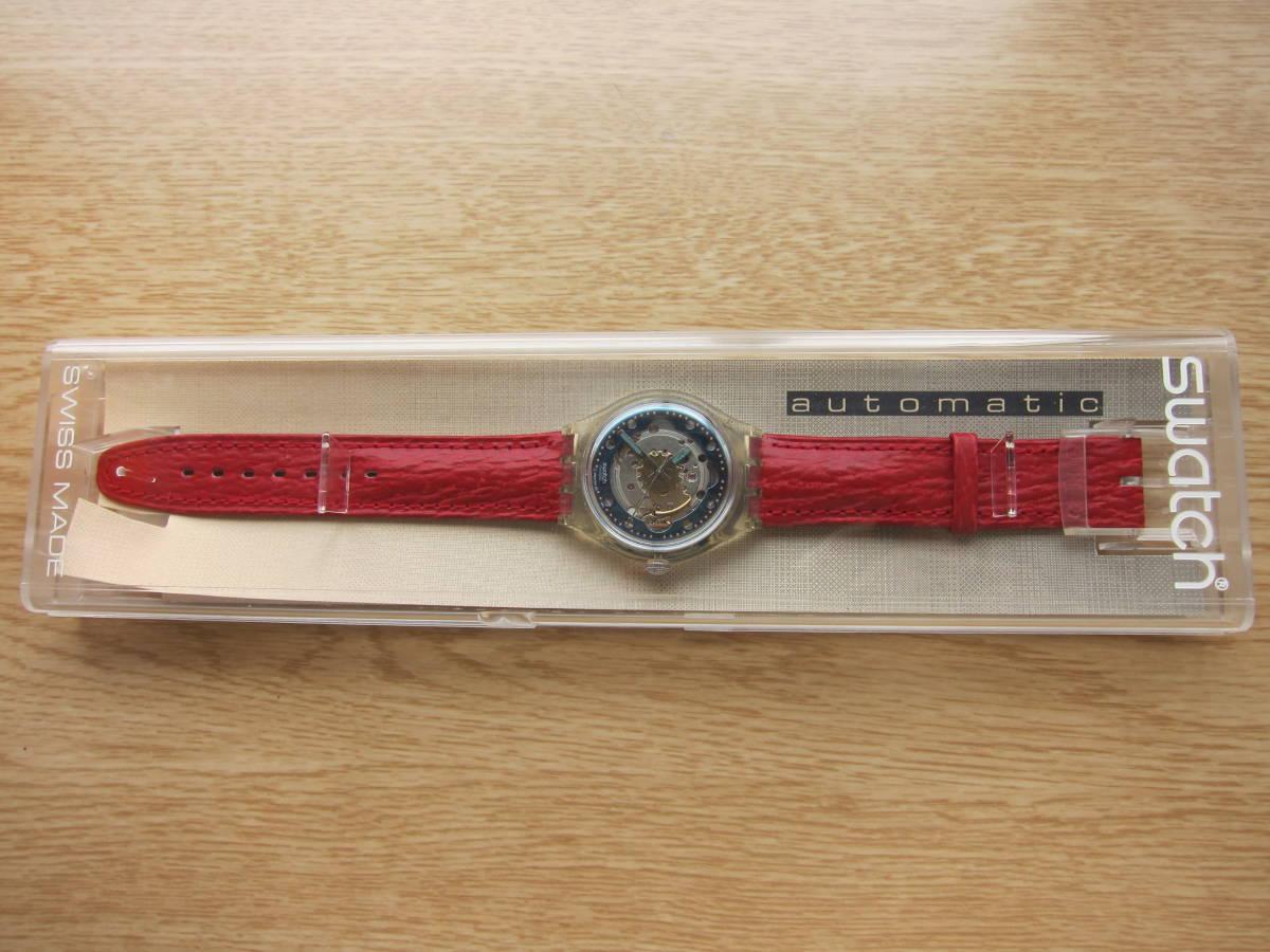 ☆Swatch スウォッチ オートマチック 92年 RED AHEAD 未使用☆_画像2