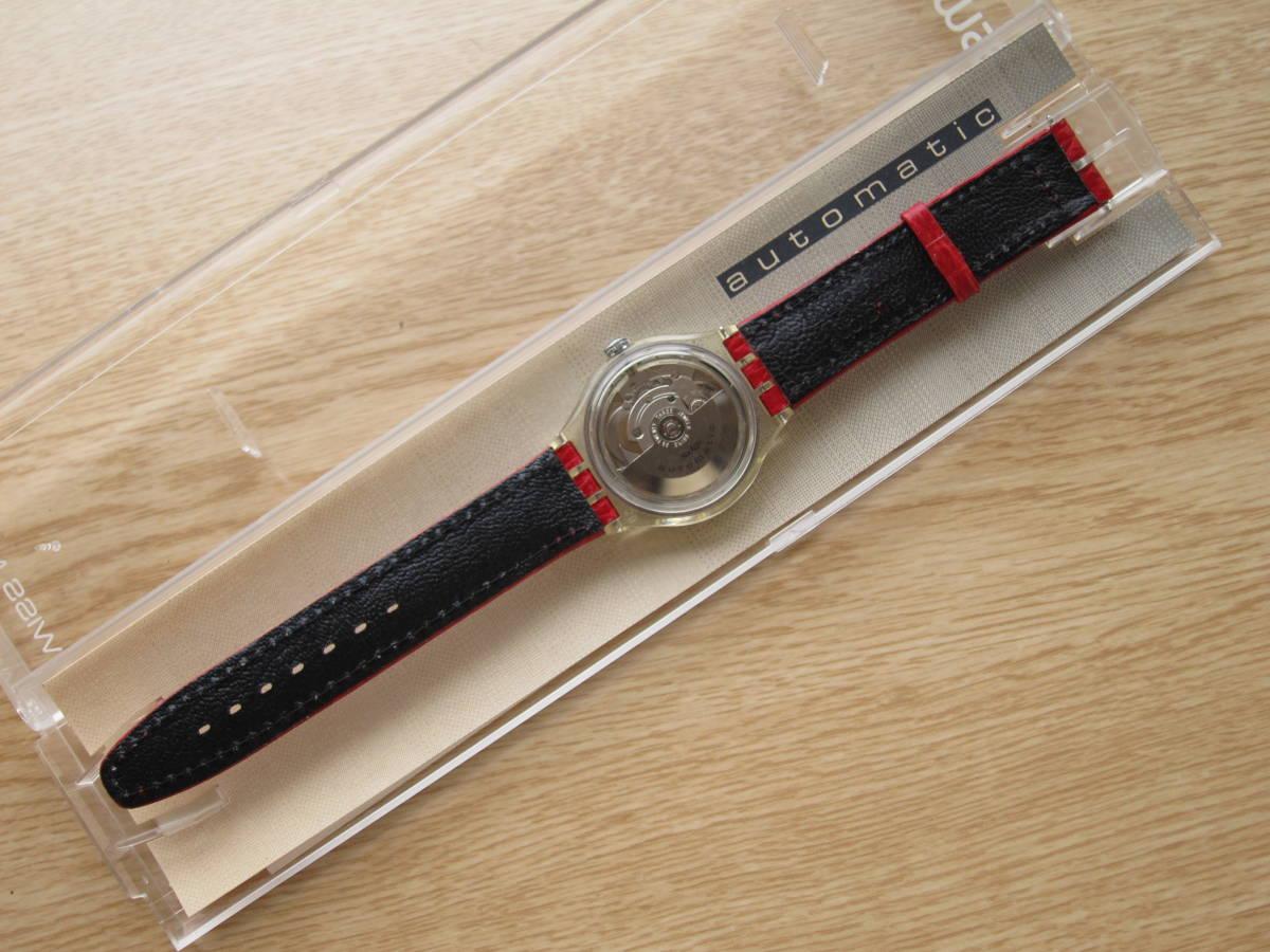 ☆Swatch スウォッチ オートマチック 92年 RED AHEAD 未使用☆_画像3