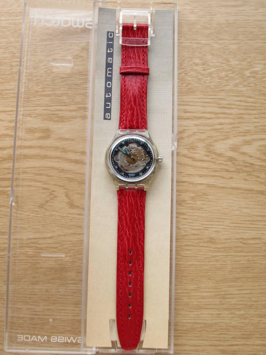 ☆Swatch スウォッチ オートマチック 92年 RED AHEAD 未使用☆_画像4