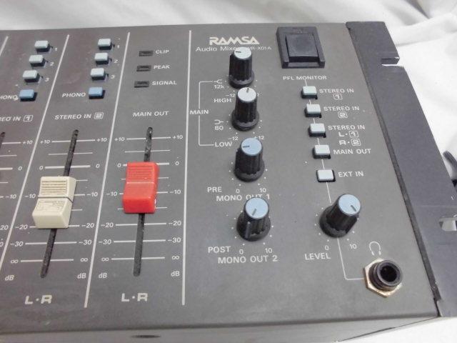 Panasonic RAMSA Audio Mixer  オーディオ ミキサー パナソニック_画像7