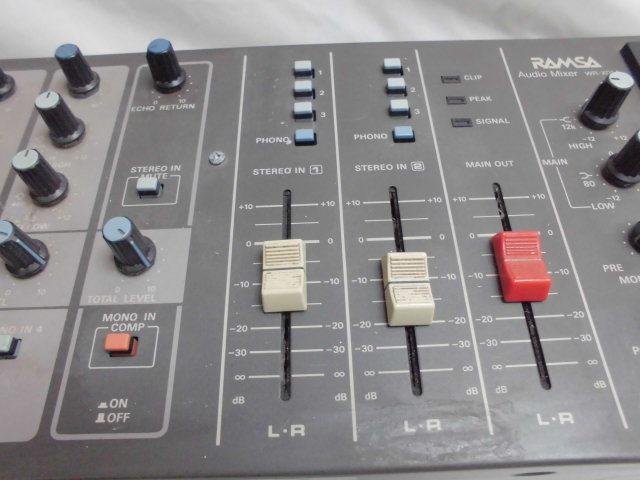 Panasonic RAMSA Audio Mixer  オーディオ ミキサー パナソニック_画像6