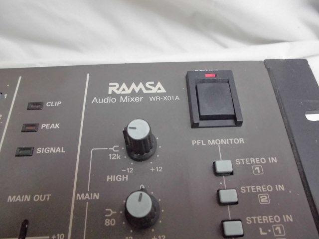 Panasonic RAMSA Audio Mixer  オーディオ ミキサー パナソニック_画像3