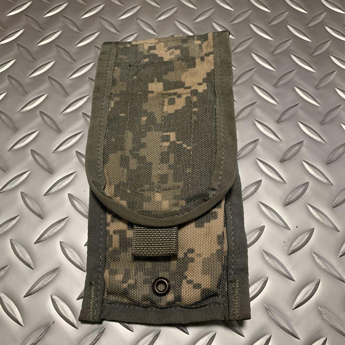 実物 米軍 放出品 ACU Molle ダブルマガジン ポーチM4/M16用 ARMY_画像1