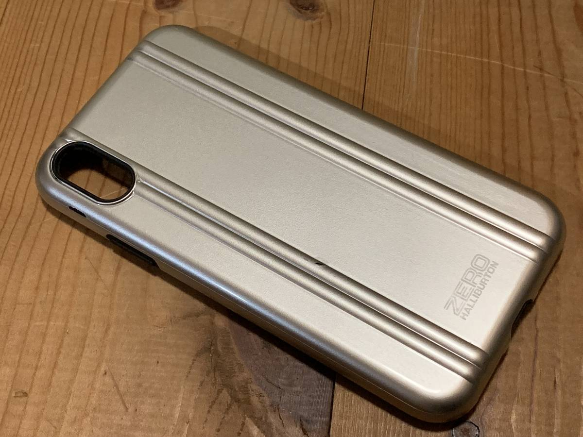 【送込み】ゼロハリバートン iPhone X 専用 携帯 ケース シルバー (ZERO HALLIBURTON Shockproof case for iPhone X 、カバー