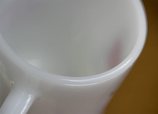 美品! ファイヤーキング マグ スヌーピー モーニングアレルギー ピーナッツ 耐熱 ミルクグラス コーヒー _画像5