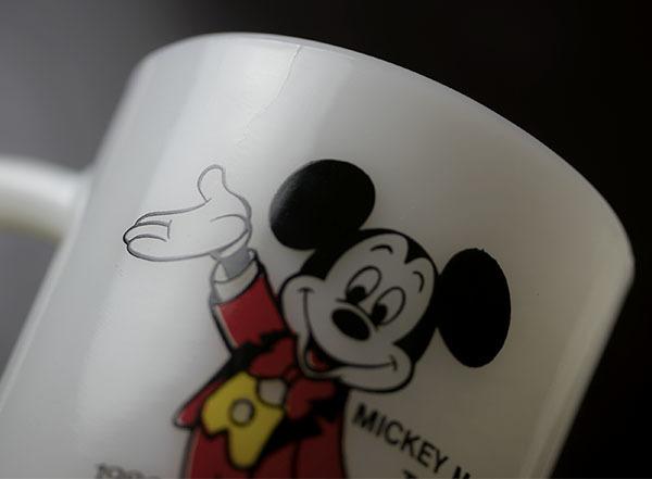 美品! ファイヤーキング マグ ミッキーマウストゥデイ ディズニー 9オンス 耐熱 ミルクグラス コーヒー ペプシコーラ_画像5