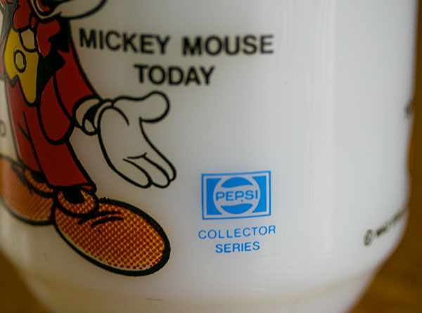 美品! ファイヤーキング マグ ミッキーマウストゥデイ ディズニー 9オンス 耐熱 ミルクグラス コーヒー ペプシコーラ_画像6