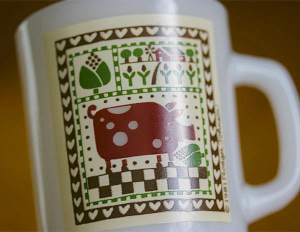 ミント! ファイヤーキング マグ カントリーラブ 牛 カウ 9オンス 耐熱 ミルクグラス コーヒー カントリー_画像2