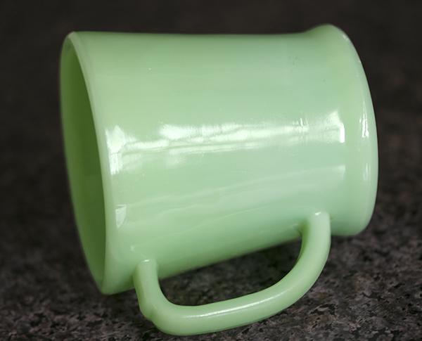 ファイヤーキング マグ ジェダイ フラットボトム 1940年代 ミルクガラス コーヒー アメリカ製 ビンテージ_画像2