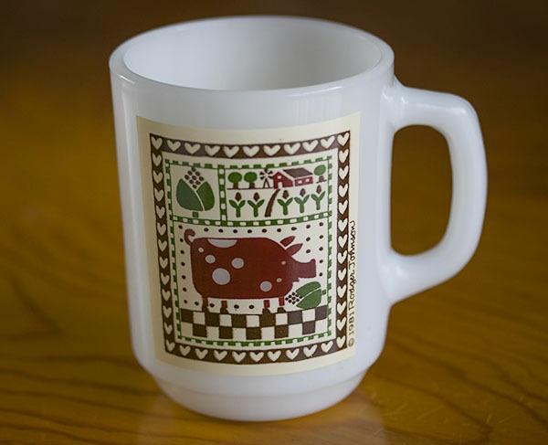 ミント! ファイヤーキング マグ カントリーラブ 牛 カウ 9オンス 耐熱 ミルクグラス コーヒー カントリー