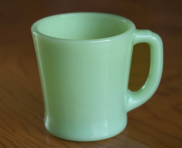美品! ファイヤーキング マグ ジェダイ Dハンドル 耐熱 ミルクグラス コーヒー ビンテージ アメリカ製 キッチン 雑貨