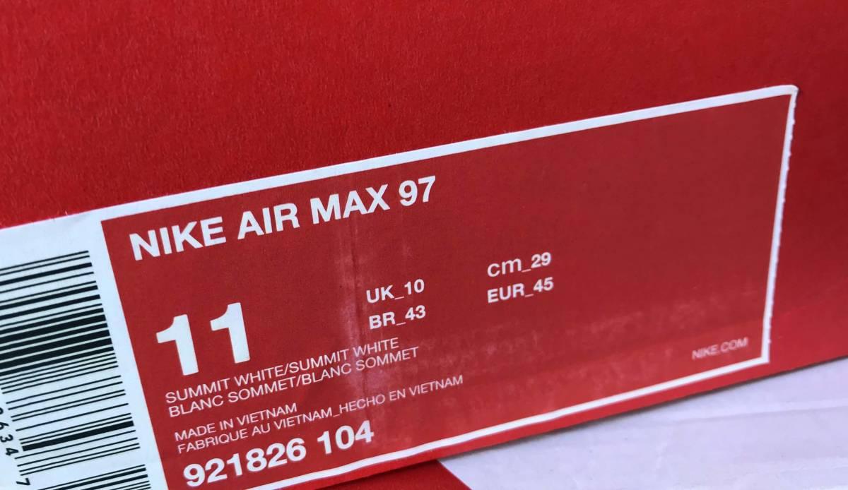 新品 NIKE AIR MAX 97 ナイキ エア マックス 97 LIGHT BLUE/WHITE 921826-104 US11-29.0cm_画像6
