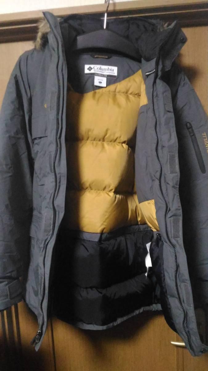 美品 columbia ダウン ジャケット titanium insulated omnitec コロンビア オムニテック チタニウム 防水 透湿 極厚_画像3